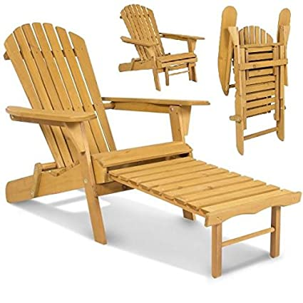 Folding Wood Patio Chairs.New Elegant Adirondack Outdoor Wood Chair Folding Wooden With Pull Out Ottoman And Adjustable Back Seat Patio Outdoor Deck Porch Garden Lawn Yard