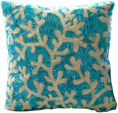 The HomeCentric Decorative Aqua Blue Euro Pillow Covers 26×26 inch 65×65 cm