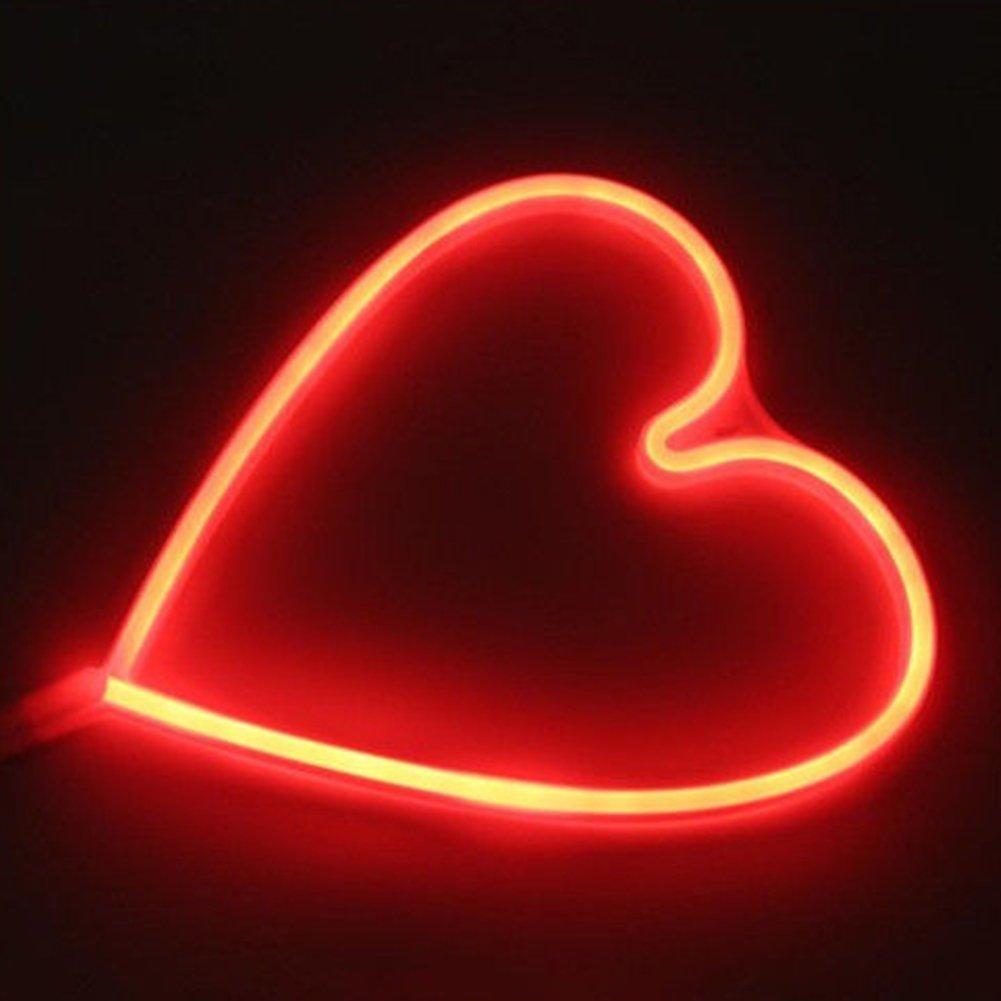 Lanlan Lampade Illuminazione a sospensione impermeabile a forma di cuore con luce a LED per KTV discoteca bar club festa di Natale Wedding Party proposta di matrimonio prop
