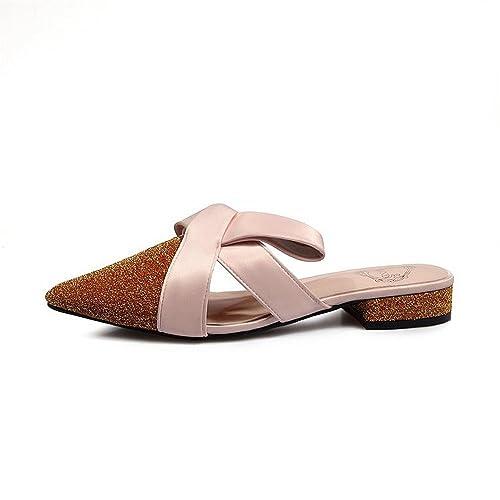Terciopelo sin talón Zapatos Perezosos Arco bajo talón Medias Zapatillas Femeninas Puntiagudas Zapatos Muller: Amazon.es: Zapatos y complementos