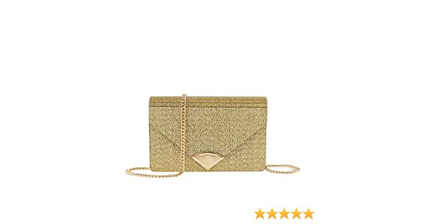 928c27101c09 MICHAEL Michael Kors Women's Barbara Metallic Envelope Clutch, Gold, One  Size: Handbags: Amazon.com