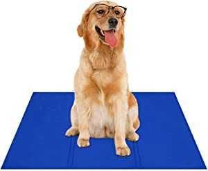 Arifpets Pet Dog Self Cooling Mat Pad for Kennels Crates and for Keeping Dogs Cool in Summer