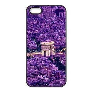 Purple beautiful city Phone Case for iPhone 5S(TPU)