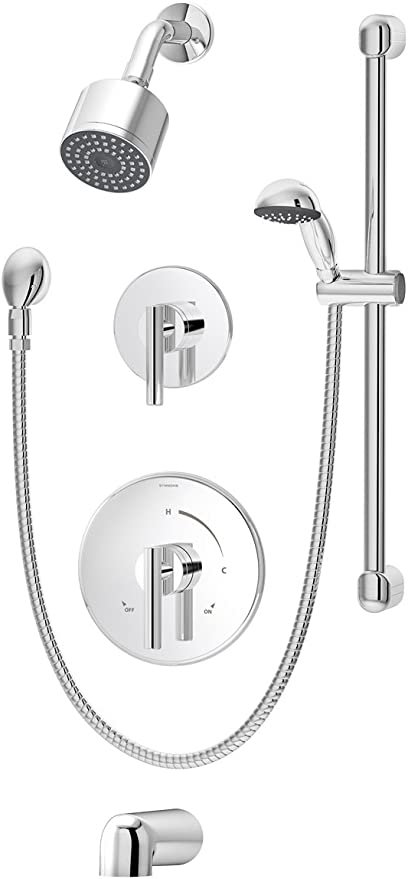 Symmons S-3502-CYL-B-TRM Dia Tub and Shower Trim in Chrome Single Function