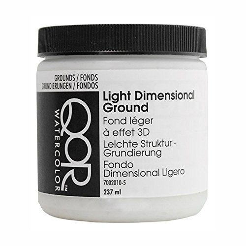 Absorbent Ground - Golden QoR Watercolor Light Dimensional Ground 8 Oz, White