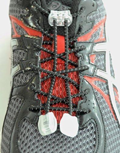 Katzs ®クイックlock-n-release靴紐(ネクタイ、伸縮性なし、反射すべての靴)