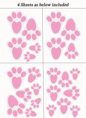 Easter Bunny Paw Prints Home Floor Clings Decals Stickers Party Decorations Ornaments Kitchen Jpg 367x500
