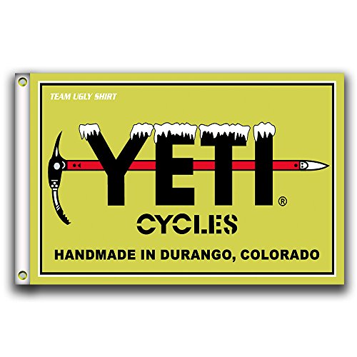 Home King YETI Cycles Flag Banner 3X5FT 100% Polyester,Canvas Head with Metal Grommet