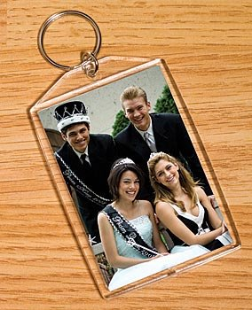 (Snap-in Rectangle Photo Key Tag)