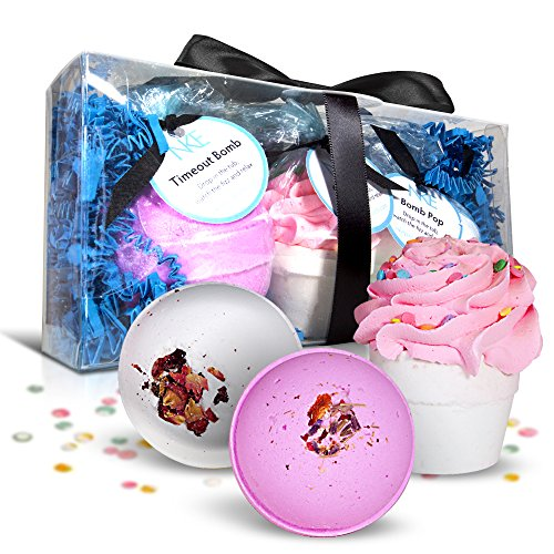 Bath Bombs Set Large Fizzies With Shea Butter