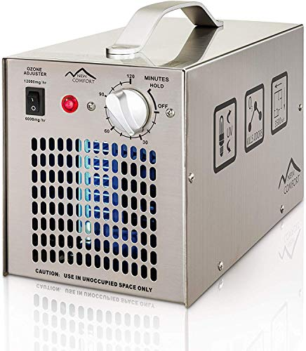 Stainless Steel Commercial Ozone Generator UV Air Purifier 12000 mg/hr Industrial