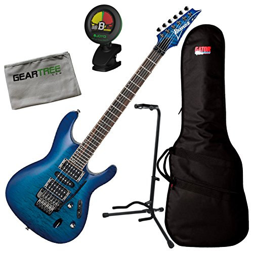 Ibanez S670QM S Series Electric Guitar (Sapphire Blue) w/Bag, Geartree Cloth, S (Ibanez S670qm S Series Electric Guitar Sapphire Blue)