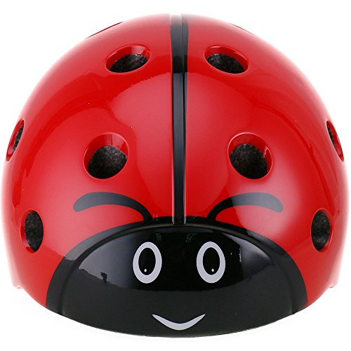 Cheap DRBIKE Kids Multi-Sport Helmet – Ladybug Child Helmet Adjustable Helmet for Cycling Skate Scooter, Child Helmet for Boys, Preschool, Toddler, Age 3-8 (52-57cm)