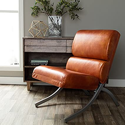 Rialto Rust Faux Leather Chair : cheap faux leather chairs - Cheerinfomania.Com