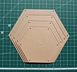 """Hexagon Quilting Template Set, 5"""", 6"""", 7"""", 8"""" with"""