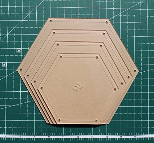 Hexagon Quilting Template Set, 5, 6, 7, 8 with 1/4 Seam Allowance 5 6 7 www.LaserThing.com