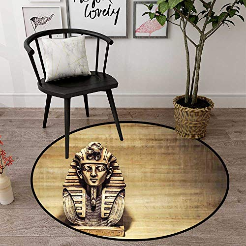 Circle Baby Floor mat Activity Gym Round Indoor Floor mat Entrance Circle Floor mat for Office Chair Wood Floor Circle Floor mat Office Round mat for Living Room Pattern 2'7