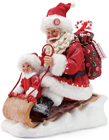 Department 56 Possible Dreams Santa Sports and Leisure Snow Much Fun Figurine, 9.5 Inch, Multicolor