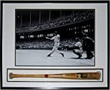 Ted Williams Signed Full Size Red Sox Bat - PSA DNA COA Authenticated - Professionally Framed & 24x36 Photo - Custom Shadow Box
