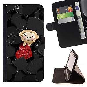Momo Phone Case / Flip Funda de Cuero Case Cover - Corazones lindos - Apple Iphone 5C