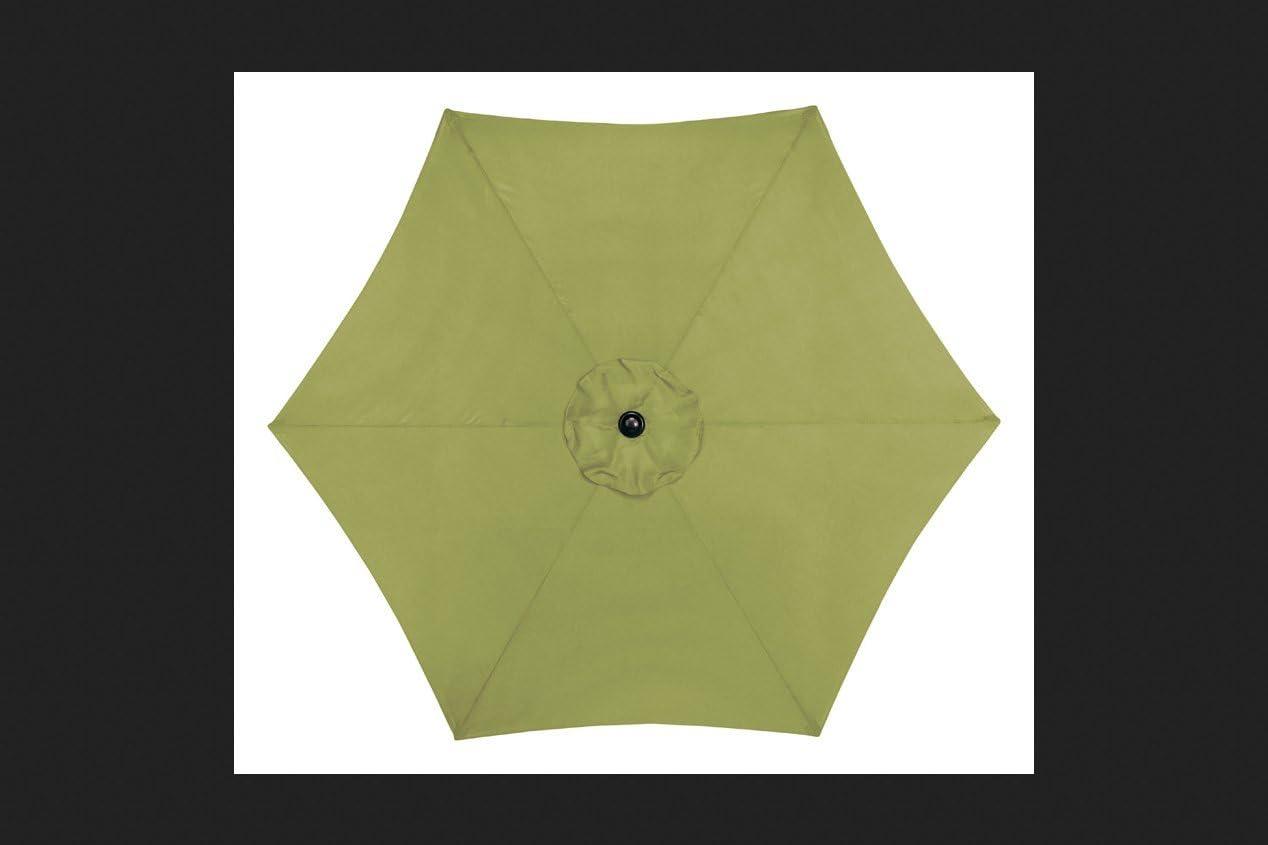 Living Accents  MARKET  9 ft Tiltable Sage Stripe  Patio Umbrella