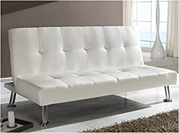 Dugarhome Sofa Cama Valencia tapizado Blanco 3 plazas ...