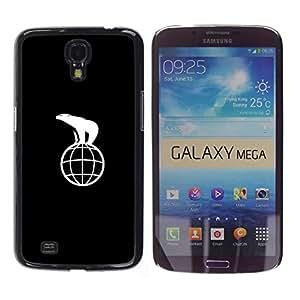 YOYOYO Smartphone Protección Defender Duro Negro Funda Imagen Diseño Carcasa Tapa Case Skin Cover Para Samsung Galaxy Mega 6.3 I9200 SGH-i527 - polorbear en la tierra