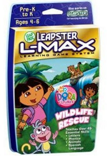 (LeapFrog Leapster L-Max Educational Game Dora the Explorer Wildlife Rescue)