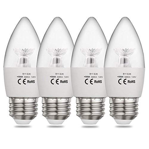 Led Candle Light Bulbs Cool White in US - 5