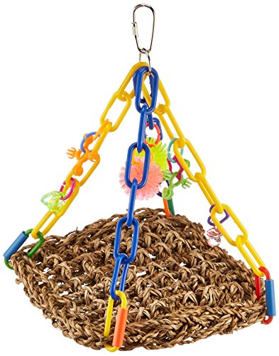 51DYV09wOpL - Super Bird Creations Mini Flying Trapeze Toy for Birds