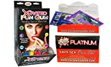 Bundle - 2 items: X-Rated Fun Gum Wall Mount DP (50pcs) And Wet Safe Sex Kit with Platinum Silicone Lubricant
