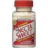 Necta Sweet Saccharin Tablets, 1/4 Grain, 1000 Tablet Bottle (Pack of 4)