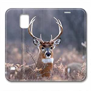 New Design and Good Quality Case,PU Leather Magnet Shell Stand Case Cover for Samsung Galaxy S5 with Reindeer