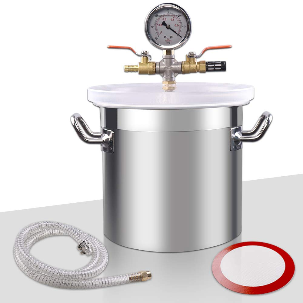 VI-CO 5 Gallon Upgrade Stainless Steel Vacuum Chamber for Degassing Urethanes, Resins, Silicones and Epoxies