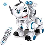 WomToy Remote Control Robotic Dog, RC Robot Dog Electronic Pets Interactive Intelligent Walk Sing Dance Programmable Robot Puppy Toys for Kids Toddler Birthday Gift