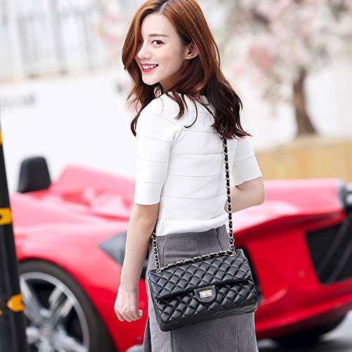 Fashion A Daily Capacity realizzati Travel pelle in tracolla Chain High a Donna Borsa colori 4 Lattice Zwnswd xq8anzInOv