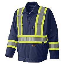 Pioneer V1070280-M Hi-Viz Traffic Control Safety Jacket, 5 Storage Pockets, Blue M