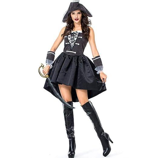 ASDF Disfraz de Falda Pirata de Halloween Pirata Mujer capitán ...