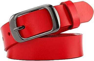 Vintage Women/'s Leather Belt Beautiful Lady/'s Belt. Genuine Leather Belt Red Belt