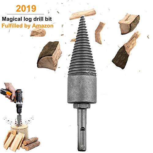 Deartisan Log Splitter Screw, Speed Wood Drill bit Cone Kindling Firewood Splitter for Hand Drill Stick Copper