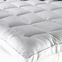 Sleep X Factory Premium Hotel Mattress Felt 200x200+14 - Microfiber Filler 100% Cotton Fabric - 5.5 Inch Height
