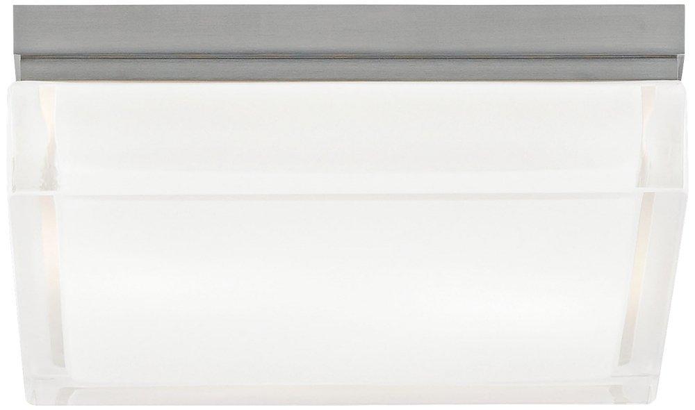 Tech Lighting 700BXLS-LED, Boxie Ceiling, LED Flush Mount, Satin Nickel