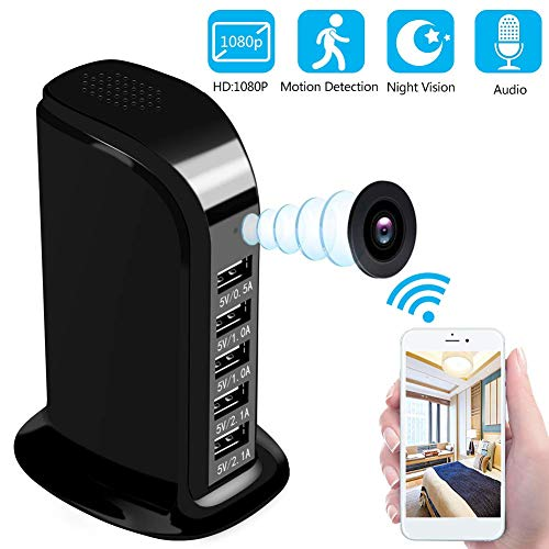 Spy Camera WiFi 1080P HD-Hidden Camera with Night Vision and Motion Detection Mode Mini Camera for Your Home and Office