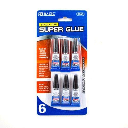 BAZIC 1 g / 0.036 Oz Single Use Super Glue (6/Pack), Case Pack of 144