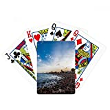 Ocean Stone Beach Sea Picture Poker Playing Card Tabletop Board Game Gift