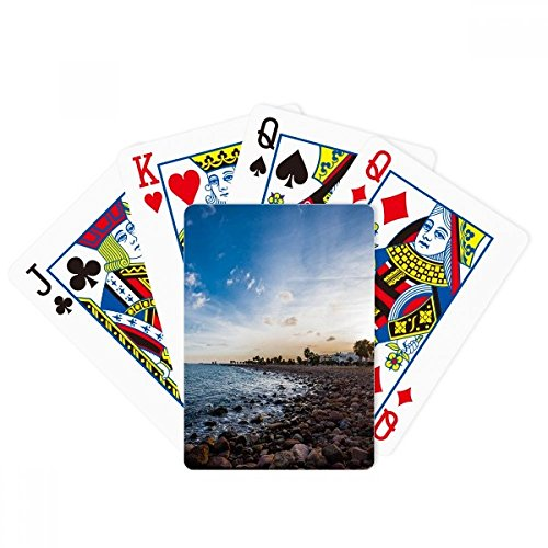 Ocean Stone Beach Sea Picture Poker Playing Card Tabletop Board Game Gift by beatChong