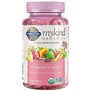 Garden of Life mykind Organics Women's Gummy Vitamins Berry Certified Organic, Non GMO, Vegan, Kosher Complete Multi Methyl B12, C & D3 Gluten, Soy & Dairy Free 120 Real Fruit Gummies