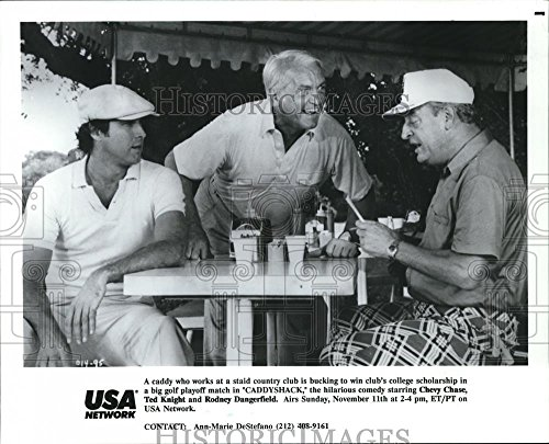 (Vintage Photos 1990 Press Photo Chevy Chase, Ted Knight, Rodney Dangerfield in)