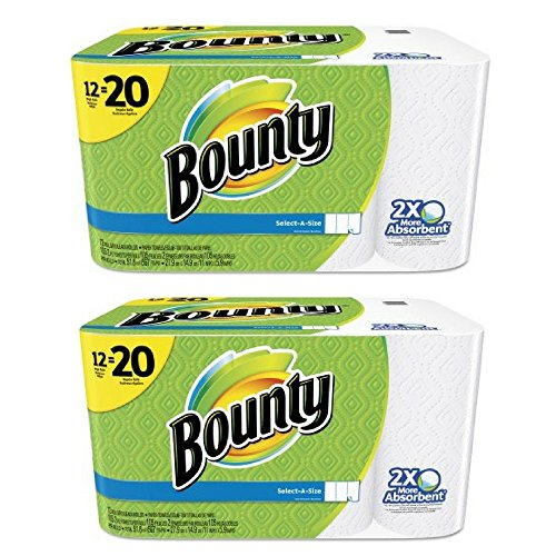 Bounty Select-a-Size Mega Roll Paper Towels, 105 sheets, 12 rolls (2 pack)