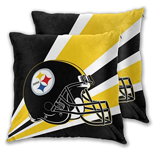 - Marrytiny Custom Colorful Pillowcase Set of 2 Pittsburgh Steelers American Football Team Bedding Pillow Covers Pillow Cases for Sofa Bedroom Home Decorative - 18x18 Inches